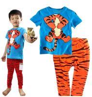 Hot Sale Classic Tigger Girls Boys Cartoon Character Comic Print Pyjama Nightwear Loungewear Homedress