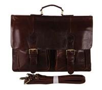 7105-2C J.M.D Rare Cowhide Leather Men's Briefcases Laptop Bag Dispatch Shoulder