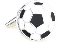 Promotion!! Football Cufflinks 2 pairs/lot silver color fashion novelty sport soccer design copper material free shipping