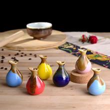 Mini bottle with a lid, ceramic vase, creative vase, Storage tank, 8.5cm*5.5cm, 6 colors / set~(China (Mainland))