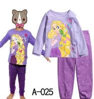 Hot Sale Classic Tangle Rapunzel Girls Cartoon Character Comic Print Pyjama Nightwear Loungewear Homedress