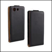Fashion Leading Genuine Flip Leather Case Cover for Sony Xperia Compact  Z3 mini Cell Phone with 2 kinds + free shipping