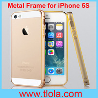 2014! Fashion Style Bumper Metal Frame for iPhone 5/5S Phone Protection Shell with Phnom Penh 100pcs/Lot Free Shipping to Brasil