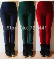 Women Thickening Pants 2014 Autumn Winter Plus Velvet Pencil Pants High Waist Strech Fashion Trousers 4Colors Winter Pants