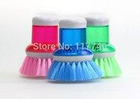Automatic liquid cleaning brush pot pot scrub bowl add liquid household gadgets