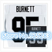 New! Cheap Stitched Custom American Football Jersey #95 Kaelin Burnett Jersey Men's Football Jersey.Free Shipping