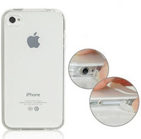 Soft Matt Transparent Crystal TPU Silicon Ultra-thin 0.3mm Case Cover bag with Pluggy for iPhone 5 5s drop shipping
