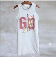 baby children's clothing han edition digital fashion vest dress fawn pattern kids chevron dress