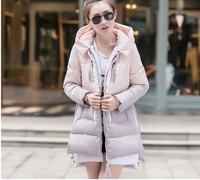 2014 New Fashion Women's Winter warm Slim Down Jacket Thick coat Medium-long Down Parkas Plus Size 5 Colors Free shipping 5807