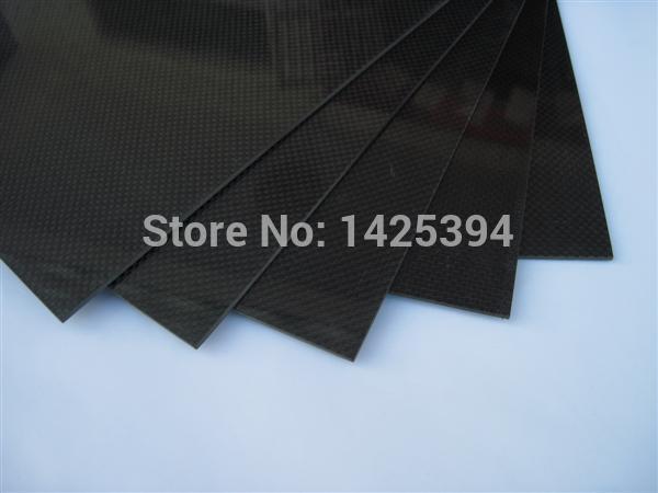 200 x 300mm x 6.0mm Glossy Finish 3K Carbon Fiber Fabric Plates, Sheets , Panels(China (Mainland))