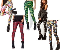Free shipping Spring 2014 Punk Adventure Time Marijuana London Boy Digital Print Milk Leggings Gym Fitness Leggins  L107-L114