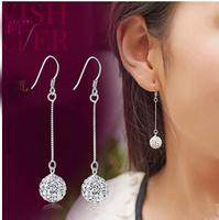 8mm 10mm cz cubic zirconia vintage Shambhala ball earrings 925 sterling silver earrings for women #sky-07
