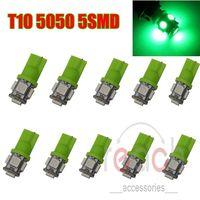 10pcs Green T10 Wedge LED 5SMD Xenon Light Bulbs Lamp 5050 Bulb Interior 158 192