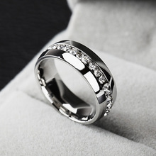 2014 Classic Rings,Fashion Jewelry Engagement Wedding Gift Rings Eternity 316L Stainless Steel Free Shipping(China (Mainland))