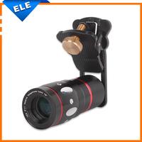 Universal clip lens 4 in 1 Fisheye + Wide-angle + Macro + 10x Telescope Cat For mobile phone Digital camera clamp camera lens