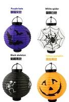 Halloween Decoration Glow Stick Halloween Pumpkin/Skull lantern led light toys pumpkin lamp free shipping
