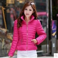 New 2014 Winter Fashion Female Down Jacket Women's Coat Short Design Slim Overcoat Women Jacket Parka Free Shipping 2805