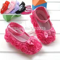 Retail Rose flower Baby First Walker Shoes infant baby prewalker kids Antiskid shoes girls shoes TTJ-X0034