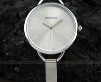 Minimalist Stainless Steel Strap Mesh WOMAGE Watches Good Sale Gift Quartz  Watch Hot Sale XWT042