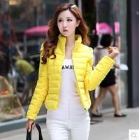 2014 New Fashion women down short design Winter Down Jacket outerwear Plus Size  zipper  parka coat For Women Free Shipping 2811
