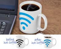 Free Shipping 1Piece Hot Spot Color Changing Mug / Wifi Signal Ceramic Coffee Mug