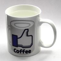 Free Shipping Wholesale 48Pieces 11oz Social Like Coffee Mug Thumb Ceremic Mug Water Mug
