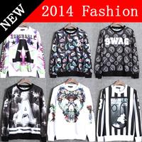 2014 fashion clothing printed mens sweatshirt hoodies sportswear men's pullovers winter sweatshirts women hoody tracksuit 919H