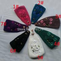 2014 New Winter Chrysanthemum Flower Women Knitted Headwrap Knitting wool crochet headband ear warmers for Girl Teens lady