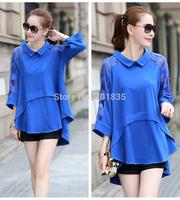 2014 New Arrival Fashion Desigual T shirt Womens Long sleeve Tops Plus Size Women Tee Shirt Blouse T-Shirts 3color 5size