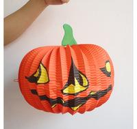 Halloween Bar Decoration 26CM large pumpkin paper lantern  free shipping