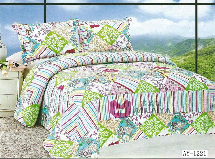 [ ay1221 ] ar condicionado Frete grátis colcha da cama 3pcs define luxo incluem capa de edredão lençol fronha Reactive Imprimir(China (Mainland))