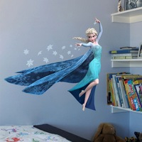 2014 The Newly Removable Baby Room's Wall Sticker Home Decoration Elsa in FORZEN Art PVC Home Decor  Adesivo de Parede Stickers