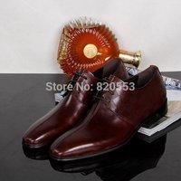 new 2014  brand men's Dress shoes Genuine Leather wedding shoes flats shoes mocassin shoes for men