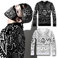 New 2014 winter autumn hoodies pullover fashion Men hiphop clothing Totoro sweatshirt women tops long sleeve loose hip hop shirt