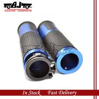 BJ-HB-046 New Arival Blue color dirt bike universal CNC Aluminum handle bar hand grips For honda shadow 750