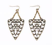 JC100 2014 Fashion Design Art Deco GALAXY EARRINGS Triangle Crystal Dot Dangle Earrings For Women No Min Order Free Shipping