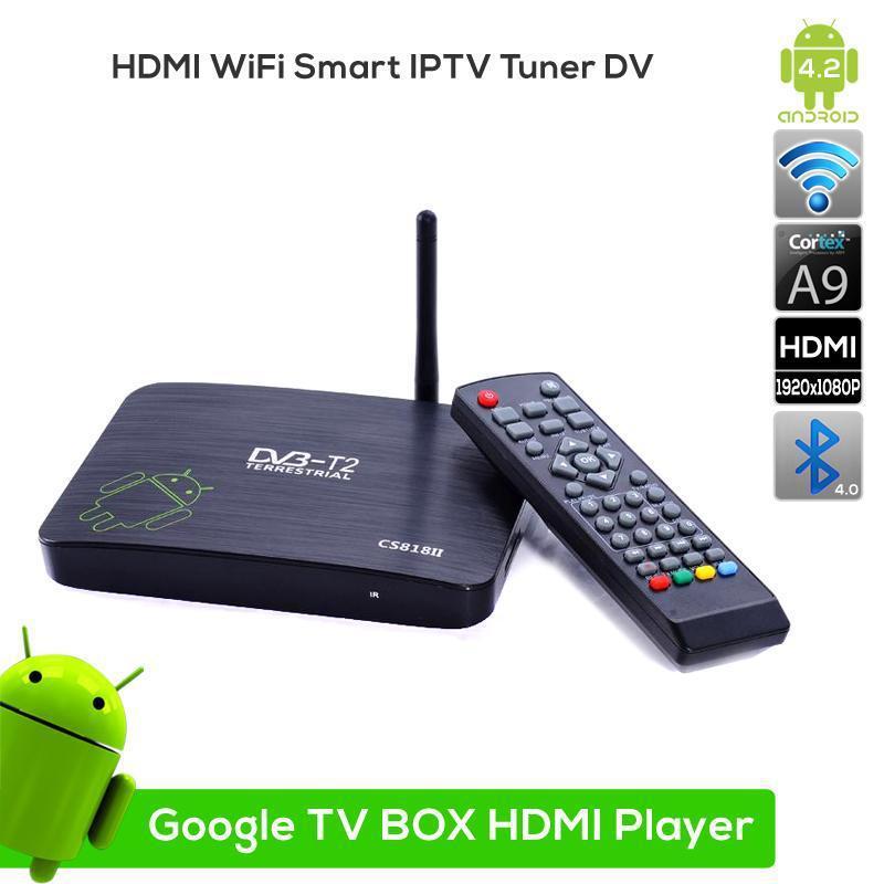 Low Price Dual Core Android TV BOX CS818II Media Player,1G/8G HDMI WiFi Smart tv box support HD1080P version,DLNA HD DVBT(China (Mainland))