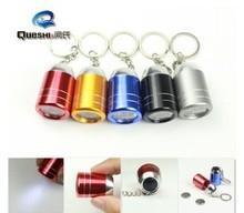 Wholesale 5pcs/lot Wine Barrel  Mini Flashlight Aluminium Alloy 6 Led Light Keychain Laser Pointer(China (Mainland))
