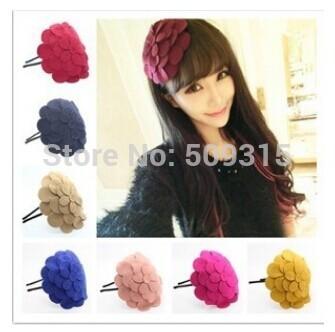 head hoop flowers Winter flower hair band hair accessories hairpin hair hoop woolen hat big flower head flower headdress hairpin(China (Mainland))