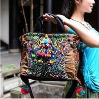 Original design chinese national style exotic conch embroidery Beaded pompon Shoulder Bag Messenger Bag