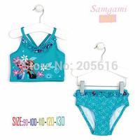 Frozen girls swimwear/UV protection swimwear/Kids Elsa&Anna printed swimsuit