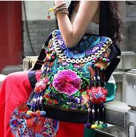 Original design chinese nation style old embroidery Handmade Beaded hijab Cloth Shoulder bag womena handbag