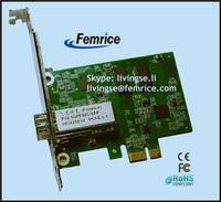 PC Network Adapter LC Fiber Card Single Port PCI Express x1 Gigabit Ethernet 1000Mbps Adapter