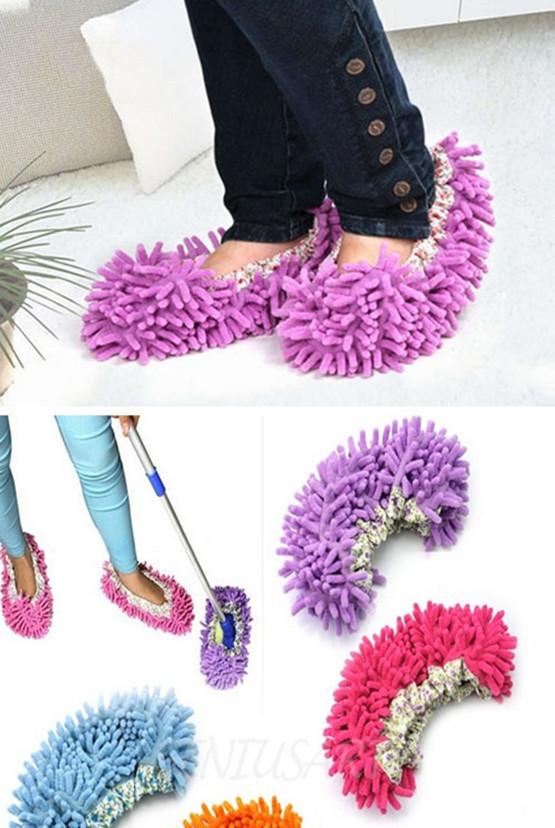 New 2015 New 1Pcs Dust Mop Slipper Lazy Quick House Floor Polishing Cleaning Socks(China (Mainland))
