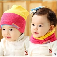Free Shipping 5Colors Baby Hats Kids Dual Purpose Beanie Hat Warm Winter Boys Girls Cap Children Accessories #962
