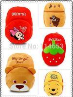 Free shipping Bear plush cartoon double children backpack bag easily