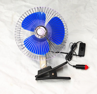 "New 8"" 12 Volt Car Cooling Fan Truck Fan With Clip Cigarette Lighter Plug"
