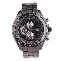 New Meet Santa Curren Brand Men's Stainless Steel Watch Waterproof Men All Steel Watch, Quartz Watch