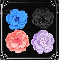 Free shipping! 24pcs/lot  6cm fabric flower silk flower hair flower