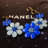 New Arrival 3colors Optional Blue Flower Petal Bracelet Bangle Female Women Cuff Wristband Promotion Jewelry